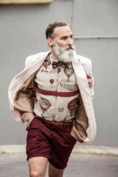 Hipster, Muslim or Jew? Look at the beard for the clue! Old Man Fashion, Fashion Looks, Mens Fashion, Hipster Fashion, Street Fashion, Fashion Suits, Fashion Fall, Sport Fashion, Mode Masculine