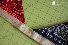 Use bandanas and scrap material to make a patriotic bunting