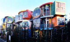 "Madeline Arakawa Gins and Arakawa, ""Reversible Destiny"" loft-style apartments in Mitaka"