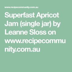 Recipe Superfast Apricot Jam (single jar) by Leanne Sloss, learn to make this recipe easily in your kitchen machine and discover other Thermomix recipes in Sauces, dips & spreads. Vegan Gluten Free, Vegan Vegetarian, Kitchen Machine, 5 Recipe, Dried Apricots, Thermomix