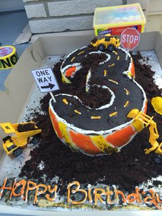 Construction Cake Birthday Cake, Construction, Cakes, Desserts, Food, Building, Tailgate Desserts, Birthday Cakes, Meal