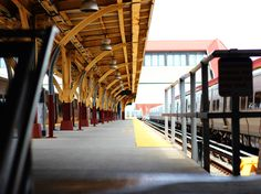 Train station in Long Beach, New York
