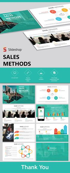 Buy Sales Methods by Slideshop on GraphicRiver. A highly editable presentation template. Presentation format in .pptx Users will received two presentation file sizes. Powerpoint Design Templates, Professional Powerpoint Templates, Microsoft Powerpoint, Presentation Format, Presentation Templates, Flow Chart Template, Slide Design, Book Layout, Beautiful Places