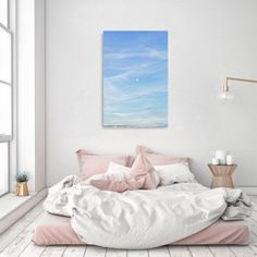Oliver Gal Luna Canvas Art, White