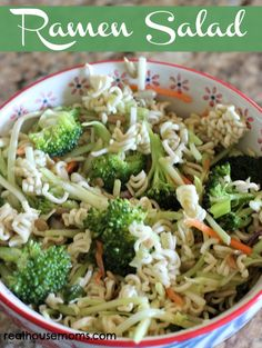 Ramen Salad ~ Ramen Salad is simple and quick to put together, yet is full of amazing flavor! It makes a great side dish or main dish and is perfect for summer parties or potlucks. For a larger crowd, double or triple the recipe!