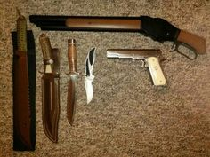 Dean's weapons.
