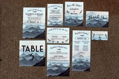 Downloadable Watercolor Mountain Wedding by DColovenotes on Etsy