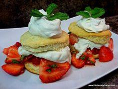 The Kitchenista Diaries: Vegan Minted Strawberry Shortcake