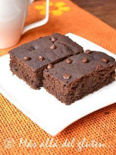 Más allá del gluten...: Brownies Sin Huevos Bajos En Grasa (Receta GFCFSF, Vegana)