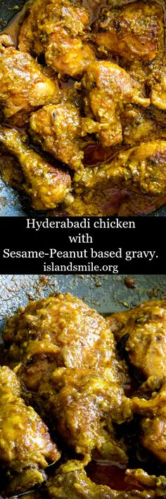 Hyderabadi chicken with a sesame-peanut gravy base. this indian curry makes a perfect one pot meal to share with friends and loved ones. indian I one pot I gluten-free I dinner I main meal I curry
