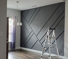 Modern Wainscoting - Home Accent Walls In Living Room, Accent Wall Bedroom, Living Room Decor, Master Bedroom, Modern Wall Paneling, Wall Panelling, Wainscoting Wall, Accent Wall Designs, Bedroom Wall Designs
