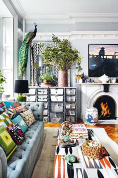This artfully cluttered, anything goes aesthetic is all about throwing caution to the wind and filling your home with things you love that you've picked up along your journeys.