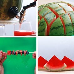 4 Creative Watermelon Party Ideas just don't use alcohol Snacks Für Party, Fruit Party, Fruit Snacks, Fruit Drinks, Party Drinks, Drinks Alcohol, Partys, Creative Food, Diy Food