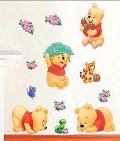 Popular Wandaufkleber Wandtattoo Wandsticker Deko Winnie Pooh Kind Kinderzimmer