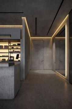 Modern Bedroom Design, Modern Interior, Home Interior Design, Interior Decorating, Dream Home Design, House Design, Cement House, Küchen Design, Interior Lighting