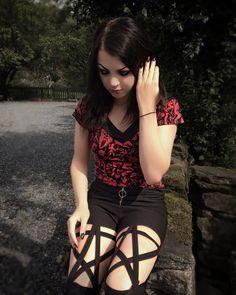 c7090f9c2d0 Pentagram 'O' Ring Zipper Pants by Rags n Rituals. Model: Instagram  Meganmayhem_. '
