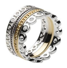 Kit Heath Lace Stacking Gold Plated Ring- Size Q: Amazon.co.uk: Jewellery