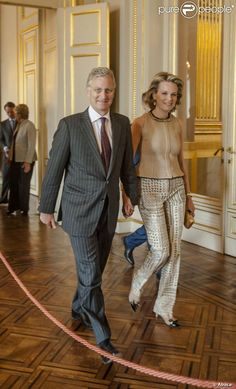 Crown Princess Mathilde and Crown Prince Philippe attended the Princess Mathilde Awards 2013 in Brussels