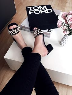 Top five pearl embellished slides on my radar that I am loving. Top five pearl embellished slides on my radar that I am loving. Cute Shoes, Me Too Shoes, Crazy Shoes, Shoe Boots, Shoes Sandals, Heeled Boots, Black Sandals, Pearl Shoes, Pearl Sandals