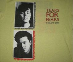Tears For Fears Vintage T-Shirt https://www.facebook.com/FromTheWaybackMachine