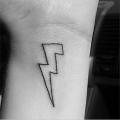 """I'm a HUGE Killers fan. My bestie and myself really want the lightening bolt from their """"Battle Born"""" album. I'd like something like this, but with glow-in-the-dark ink, and possibly a red outline."""