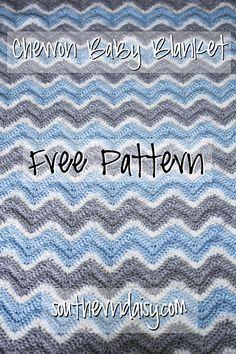Chevron Baby Blanket. Free pattern! by southerndaisy.com