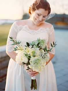 Lovely lace and classy blooms | Photography: Megan W Photography - megan-w.com  Read More: http://www.stylemepretty.com/2014/05/30/emerald-gold-art-deco-wedding/