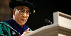 His Holiness the Dalai Lama delivers the keynote address to graduates at Tulane University's 2013 Commencement at the Superdome in New Orleans, Louisiana on May 18, 2013. His Holiness also receives an honorary degree of humane letters from the University. View
