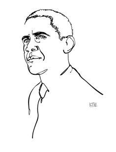 Minimal Barack Obama illustration by Kyle T. Webster