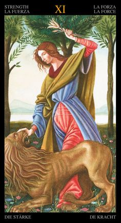 Golden Botticelli tarot.