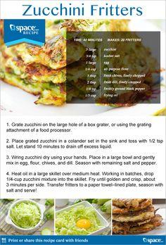 Zucchini Fritters / Jspace News