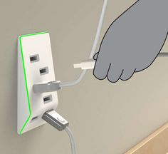 Clever Gadget Charging Outlets - The 'Bolt' USB Outlet Upgrades Your Power Sockets with USB Ports. #awesome #coolgadgets