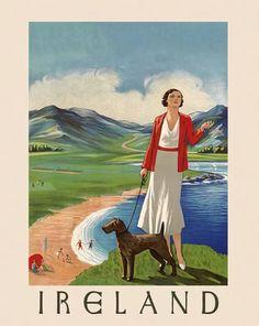 Ireland Vintage Travel Poster Ireland Countryside Ireland