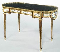 Writing Table (bureau plat) (Getty Museum)    French, sold to Grand Duchess Maria Feodorovna and Grand Duke Paul Petrovich, then travelling inconspicuously as the comte and comtess du Nord.
