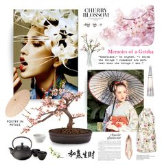 """""""Sakura"""" by magnolialily-prints ❤ liked on Polyvore featuring art"""