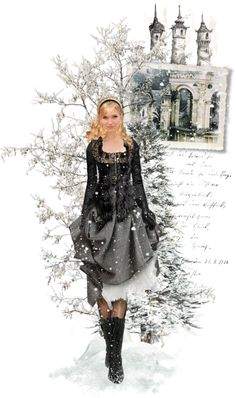 """Every Snowflake's Different Just Like You"" by vampirkaninchen ❤ liked on Polyvore"