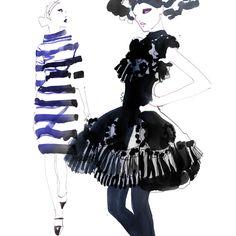Fashion Illustration - by Sara Singh - monstylepin #fashion #illustrations