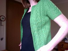 Lacey Cable Cardigan pattern by Jo Sharp Cable Cardigan, Cardigan Pattern, Barcelona Fashion, Snug Fit, Ravelry, Knitwear, Short Sleeves, Sweaters, Cardigans