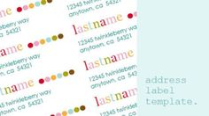 Try These Free and Stylish Address Templates: Colorful Address Templates by Daffodil Design