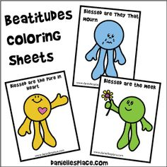 Taste and See Beatitudes Coloring Sheets from www.daniellesplace.com