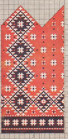 Kinda ja kampsunimustrid, Käsitöö album, 1957 Knitted Mittens Pattern, Knit Mittens, Card Patterns, Embroidery Patterns, Knitting Charts, Knitting Machine, Native American, Bohemian Rug, Knitwear