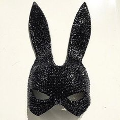 Theresa Dapra Cristal Mask ($800) ❤ liked on Polyvore featuring costumes, accessories, jewelry, bunny halloween costume, bunny costume and bunny rabbit costume
