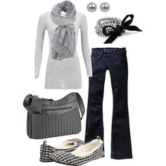 greys, created by #htotheb on #polyvore. #moda #style #mbyM Old Navy