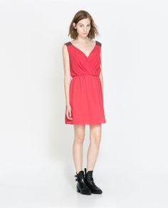 ZARA - TRF - DRESS WITH CROSSOVER NECKLINE AND SHOULDER DETAILS 40usd