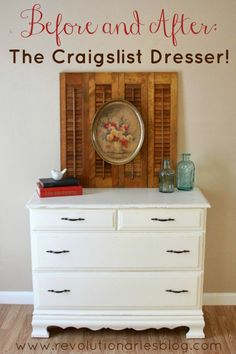 Before and After: The Craigslist Dresser!