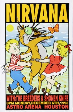 Nirvana, The Breeders, & Shonen Knife poster