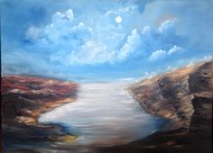 Contemporary painting Original oil on canvas, In the Path of the Light