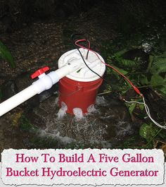 Welcome to living Green & Frugally. We aim to provide all your natural and frugal needs with lots of great tips and advice, How To Build A Five Gallon Bucket Hydroelectric Generator Renewable Energy, Solar Energy, Solar Power, Wind Power, Diy Generator, Power Generator, Electricity Consumption, Hydroelectric Power, Alternative Energy Sources