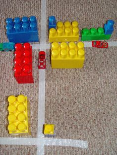 Toddler City on your Floor - great for Birthday Parties – Toddler Activities, Games, Crafts