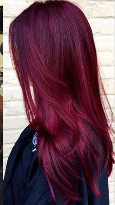 - All For Hair Color Trending Pretty Hair Color, Hair Color And Cut, Maroon Hair, Purple Hair, Burgundy Red Hair, Short Dyed Hair, Balayage Hair, Hair Looks, Hair Inspiration